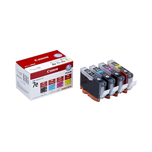 (まとめ) キヤノン Canon インクタンク BCI-7e/4MP 4色マルチパック 1018B001 1箱(4個:各色1個) 〔×3セット〕