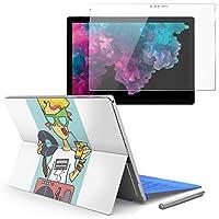 Surface pro6 pro2017 pro4 専用スキンシール ガラスフィルム セット 液晶保護 フィルム ステッカー アクセサリー 保護 ポップ 音楽 DJ 011817