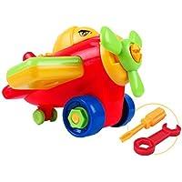 Linshop ファンシー分解トラック航空機おもちゃ赤ちゃんリムーバブル?アセンブリのネジを1~3歳