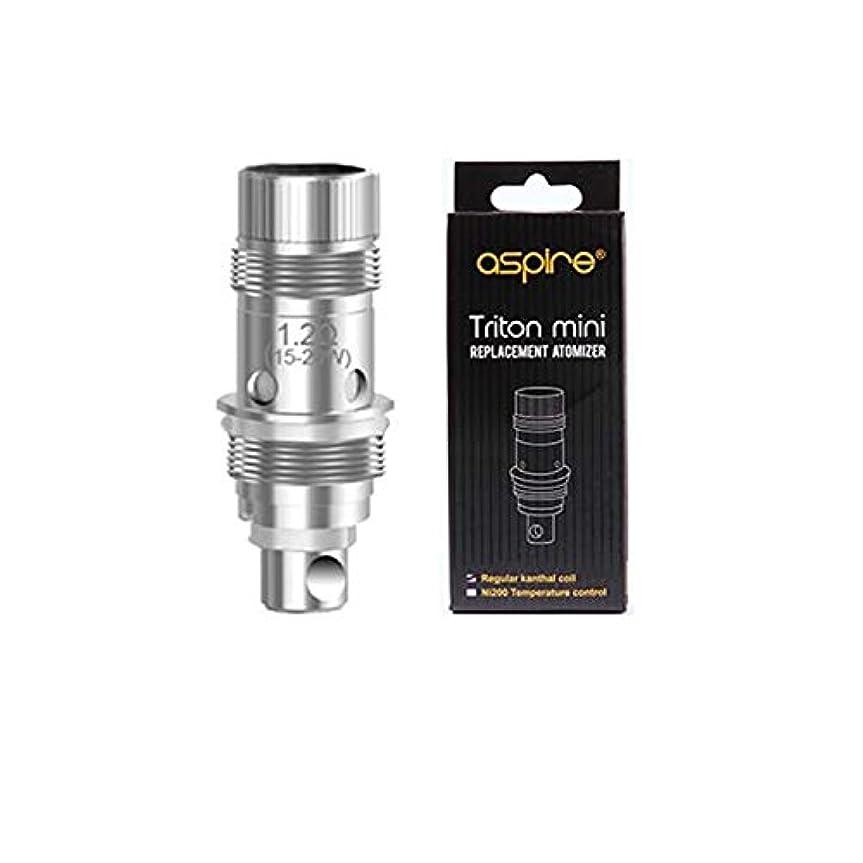 電信規制過言Aspire Triton Mini用コイル 5個セット Nautilus/Nautilus mini 電子タバコ VAPE MOD (1.8ΩClapton coil)