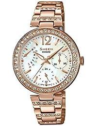 CASIO SHEEN カシオ シーン SHE-3043PG-7A 腕時計 レディース アナログ ピンクゴールド ホワイト 白 スワロフスキー シェル [並行輸入品]