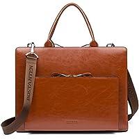 BOSTANTEN Leather Business Briefcase Shoulder Laptop Vintage Slim Bags for Men