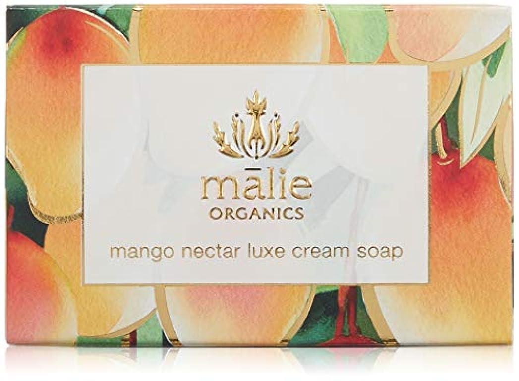オートメーション日焼け肝Malie Organics(マリエオーガニクス) ラックスクリームソープ マンゴーネクター 113g