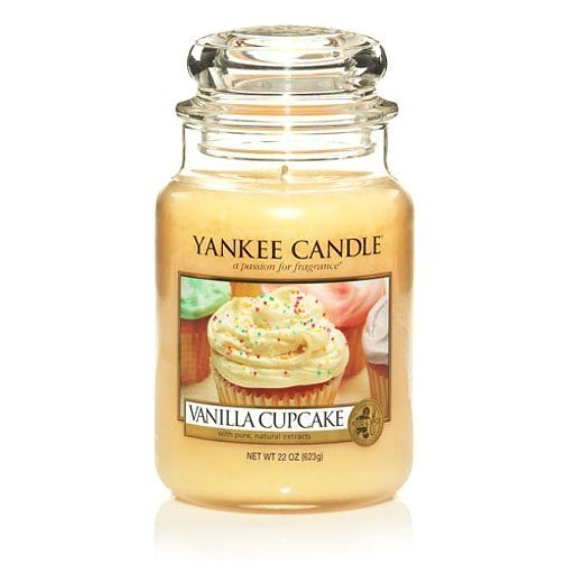 地区農場ふざけたLarge Yankee CAndle Jar Vanilla Cupcake by Yankee Candles [並行輸入品]