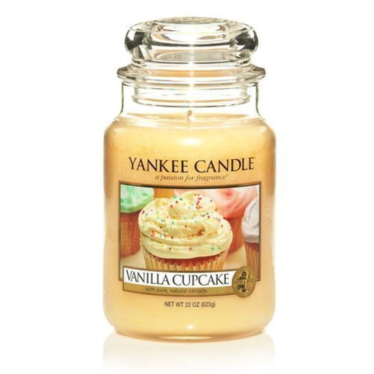 欠かせないラベル負Large Yankee CAndle Jar Vanilla Cupcake by Yankee Candles [並行輸入品]