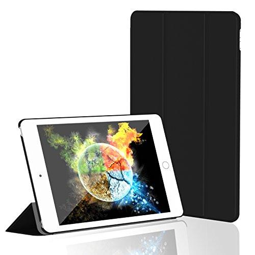 iPad Mini 4 ケース, JETech® Apple iPad Mini 4 用カバー 合成皮革ケース・マルチアングルスタンド オートスリープ機能付き (ブラック)