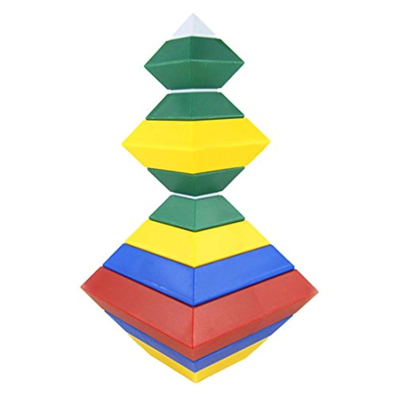 Baby Building Blocks , YIFAN 15-pieceダイヤモンドChangeable建物ブロックマジックタワーピラミッドキューブアセンブリEducational Toy for Baby Kids Children