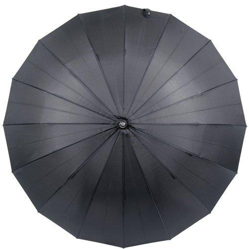 煌(kirameki) 高強度16本骨耐風傘 ナイトブラック (漆黒) 【直径108cmのジャンボサイズ/専用ギフトボックス入り/選べる10カラー/デュポン社製撥水テフロン加工】