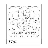 花ふきん布パック67(白) ミニーマウス 3枚パック ★アリスハウスオリジナルのクロスステッチ(刺繍)用図案おまけセット