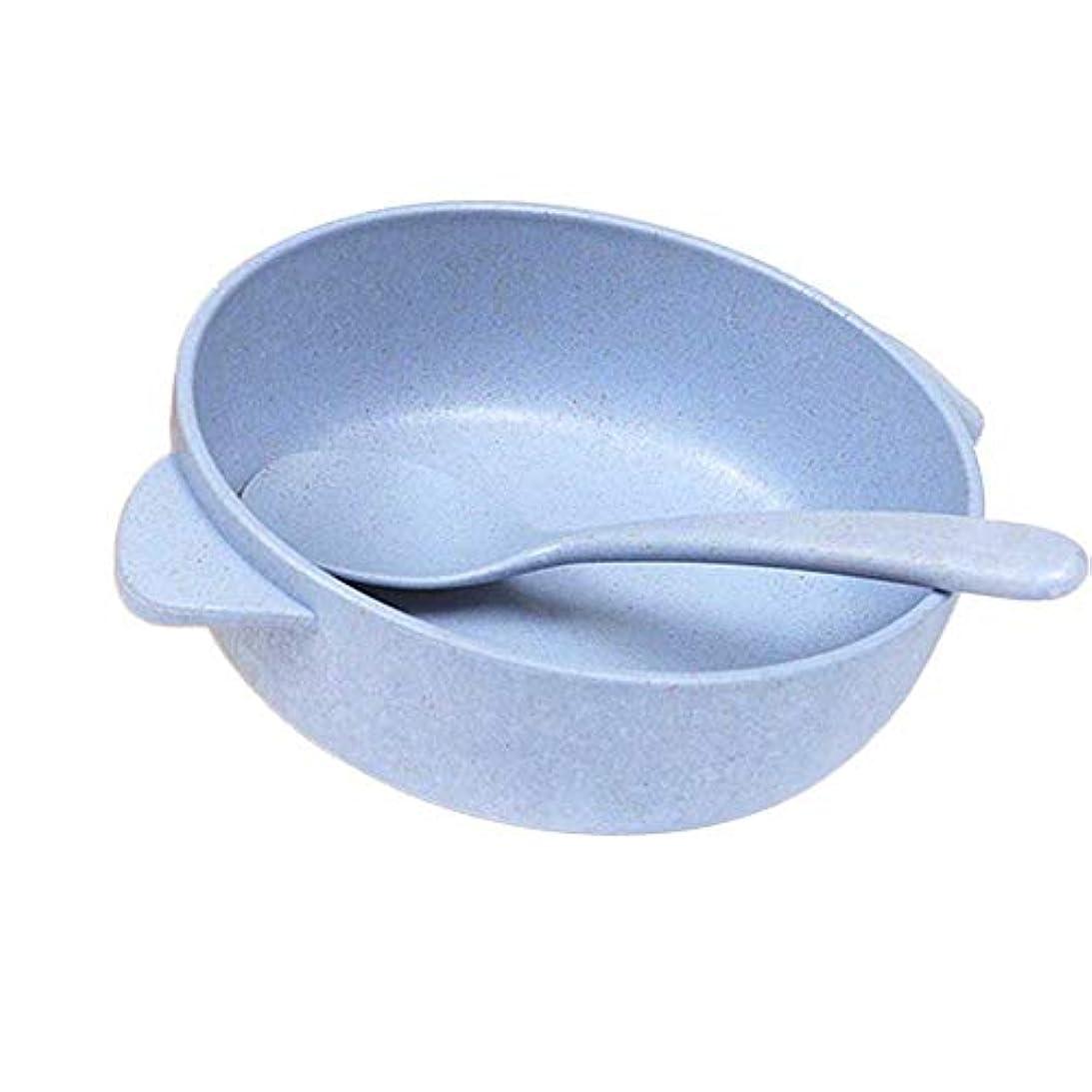クリエイティブ麦わらプラスチック子供ディナーボウルスプーンは朝食ボウルダイニング