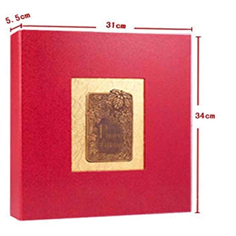 魅力的であることへのアピールオーストラリア人ドリンクHAYQ アルバム、貼り付けスタイルの従来のフォトアルバム、ラミネートノスタルジックスタイル(100?200枚の写真を保存できます、青) (Color : Red)