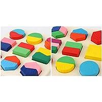 幼児期のゲーム 子どもの早期教育のための全体的な形状のおもちゃの木製ボード