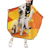 子供用ヘアカットエプロンボルト犬面白い漫画理髪エプロンポリエステル子供用防水