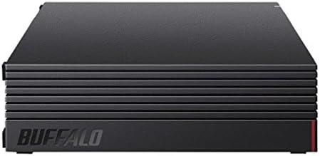 BUFFALO 外付けハードディスク 4TB テレビ録画/PC/PS4/4K対応 静音&コンパクト 日本製 故障予測 みまもり合図 HD-AD4U3