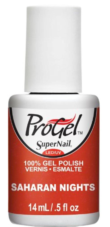 壮大なあいにく波SuperNail ProGel Gel Polish - Saharan Nights - 0.5oz / 14ml
