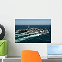 Underway Replenishment Sea with Wall Mural by Wallmonkeys Peel and Stick Graphic (18 in W x 12 in H) WM248201 [並行輸入品]