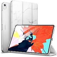 ESR iPad Pro 11 ケース 2018年秋モデルにフィット[Apple Pencilのペアリングとワイヤレス充電に非対応] iPad Pro 11 カバー 軽量 薄型 レザー 三つ折スタンド オートスリープ機能 2018年秋発売のiPad Pro 11インチ専用(大理石模様・ホワイト)