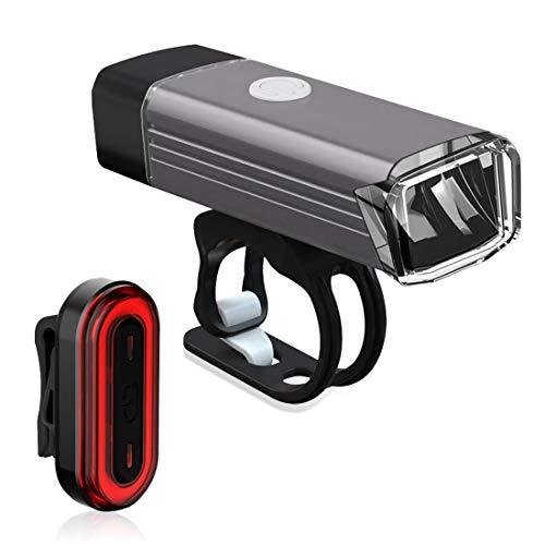 toluvcsy 自転車ライト USB充電式 防水 6つモード テールライト付き アルミ合金 4つモード LEDヘッドライト 高輝度 CREEビーズ ソニー電源 1200mAh 大容量 超軽量68g 防振 懐中電灯 取り付け簡単に