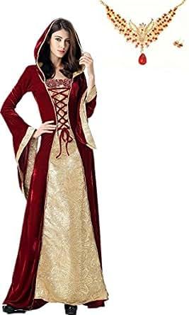 コスプレ 女王 魔女 ハロウィン・仮装パーティー・宴会 コスチューム 3点セット ワイン (M)
