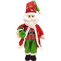 素敵なクリスマス 立ちサンタクロース トナカイ 雪だるま 人形 クリスマスの飾り (シルクハット サンタクロース)