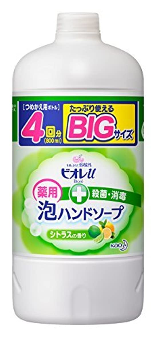下手あたたかいカーフビオレu 泡ハンドソープ シトラス つめかえ用 800ml [医薬部外品] Japan