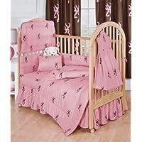 Pink Buckmark - 5 Piece Crib Set includes (Crib Fitted Sheet, Crib Bumper Pad, Crib Headboard Pad, Crib Comforter, and Crib Bedskirt)- Save Big By Bundling! by Browning