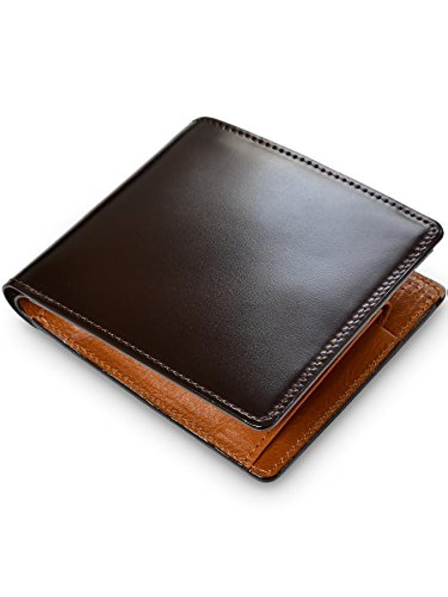 熱月面オペレーター[タバラット] 日本製 二つ折り財布 水染め コードバン 本革 小銭入れ付き 全2色 Tps-035