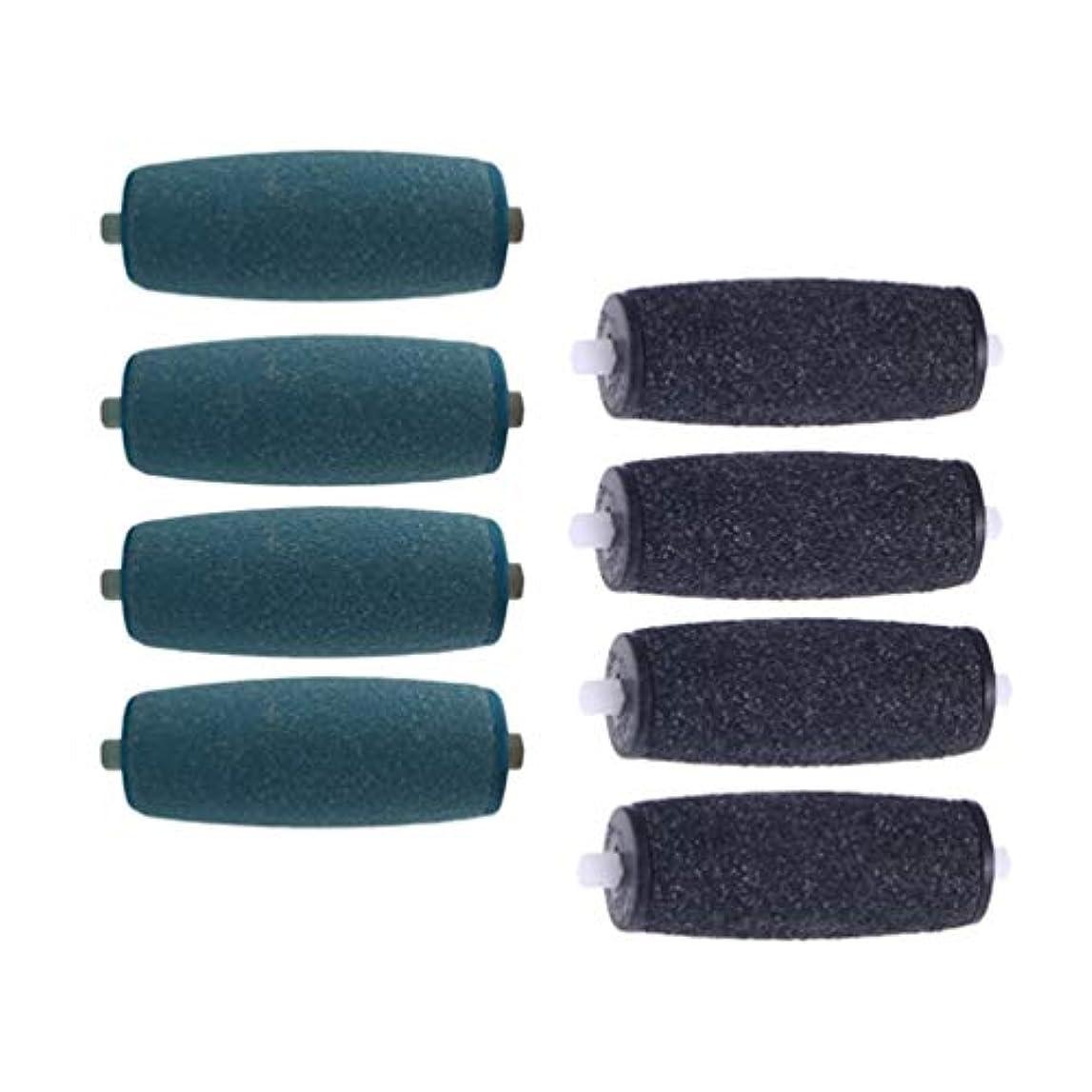 嵐村ダイヤルSUPVOX 電子足ファイルの結め換え品のための8pcs粗い取り替えのローラーの結め換え品の頭部