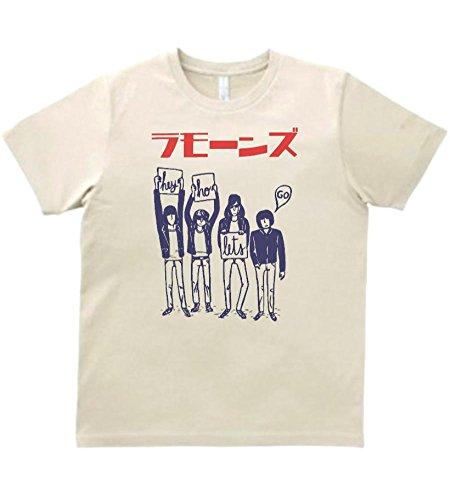 【ノーブランド品】 音楽 バンド ロック カタカナ ラモーンズ RAMONES Tシャツ サンド MLサイズ (L)