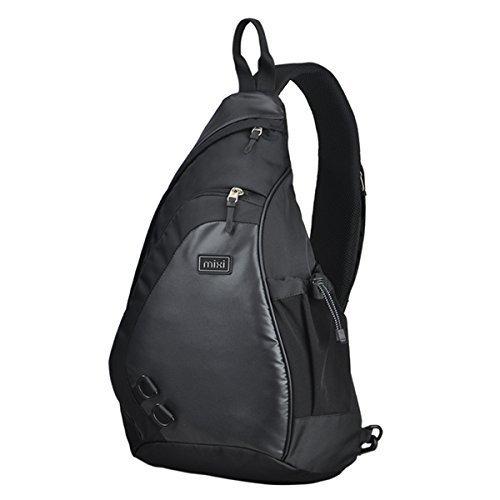 Mixi Sling Single Strap Shoulder Crossbody Backpack 17-Inch (42.5x26x12)cm Tuxedo Black [並行輸入品]