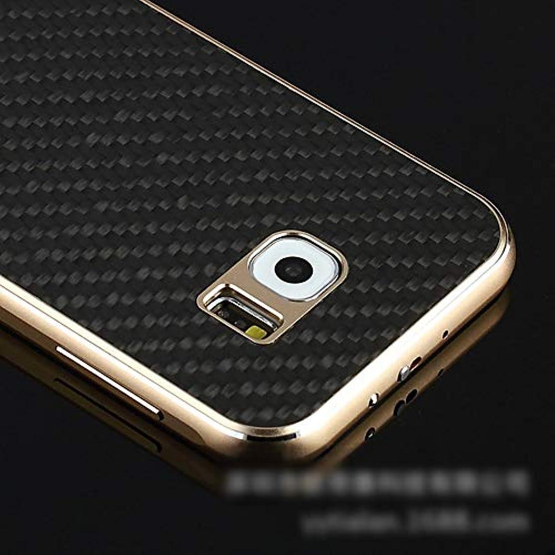 相談承認する霜Tonglilili 携帯電話ケース、カーボンファイバー携帯電話ケースサムスンS6プラス、S6、S7エッジ、S7、注5、注4のオールインクルーシブメタルシェル電話カバーアンチフォールフォーン電話ケース (Color : 黒, Edition : S7 Edge)