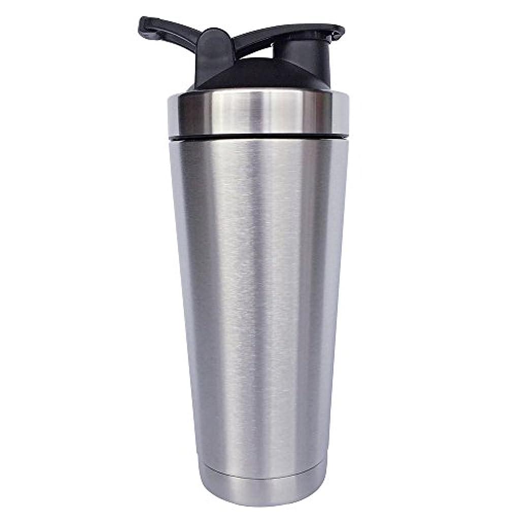 ディレクトリ印象派誰もステンレス鋼 スポーツウォーターボトル タンパク質ミルクセーキシェーカー?カップ 振ってボール ビグサイズ