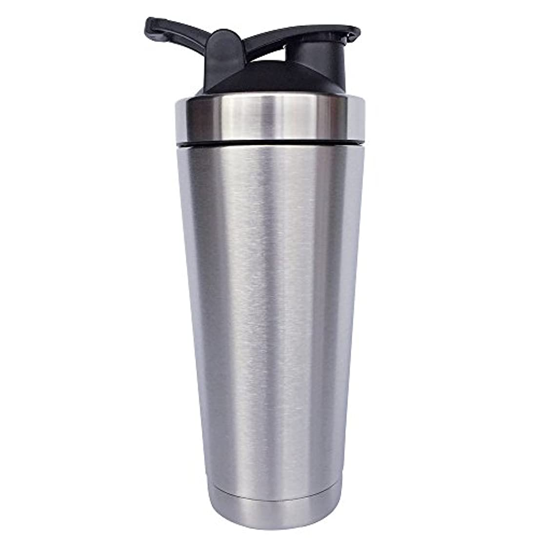 忠実自分自身ハンドブックステンレス鋼 スポーツウォーターボトル タンパク質ミルクセーキシェーカー?カップ 振ってボール ビグサイズ