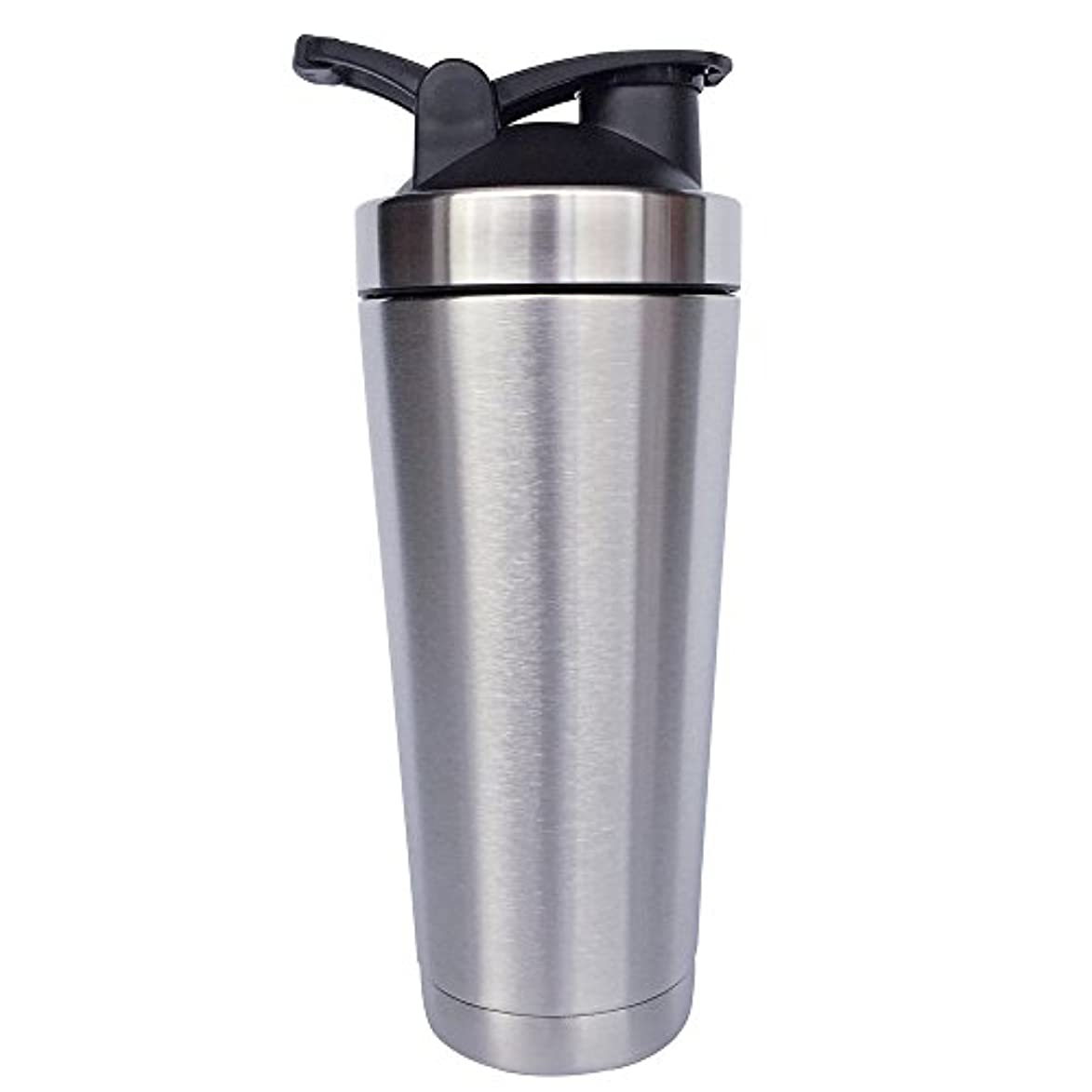 高音自分の力ですべてをする平和的ステンレス鋼 スポーツウォーターボトル タンパク質ミルクセーキシェーカー?カップ 振ってボール ビグサイズ
