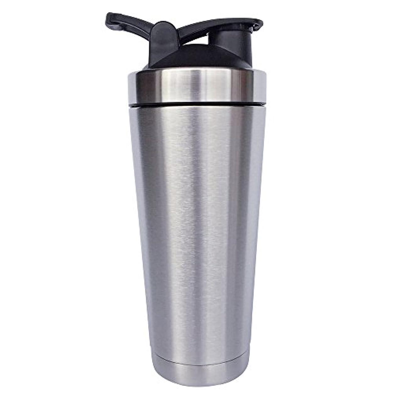 マエストロオーバードロー論争的ステンレス鋼 スポーツウォーターボトル タンパク質ミルクセーキシェーカー?カップ 振ってボール ビグサイズ