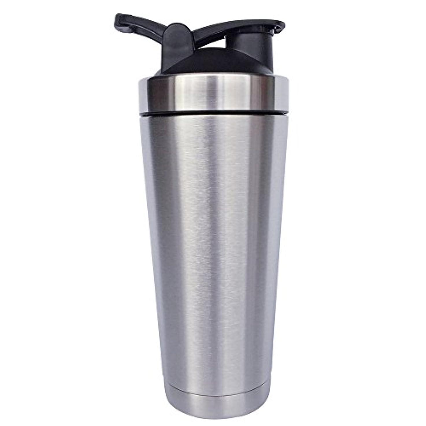 黒ミシンママステンレス鋼 スポーツウォーターボトル タンパク質ミルクセーキシェーカー?カップ 振ってボール ビグサイズ