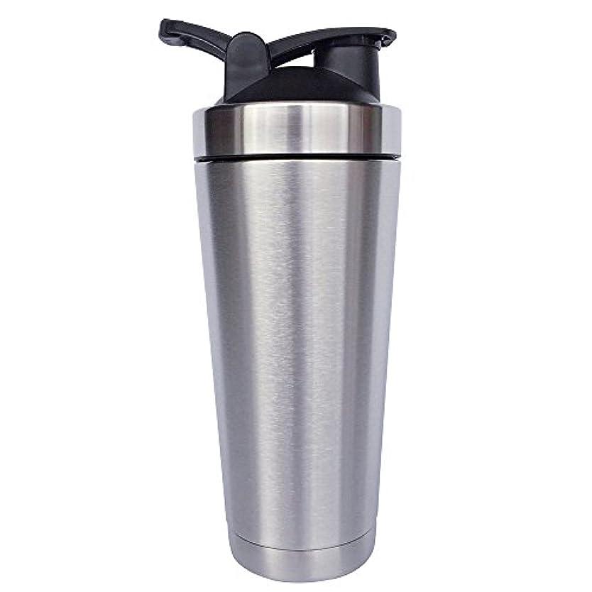 バングラデシュ雑品病的ステンレス鋼 スポーツウォーターボトル タンパク質ミルクセーキシェーカー?カップ 振ってボール ビグサイズ