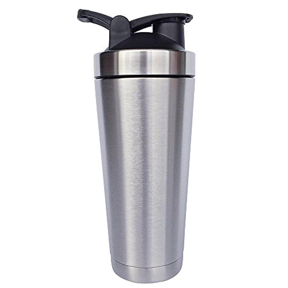 一般ダウンスペースステンレス鋼 スポーツウォーターボトル タンパク質ミルクセーキシェーカー?カップ 振ってボール ビグサイズ