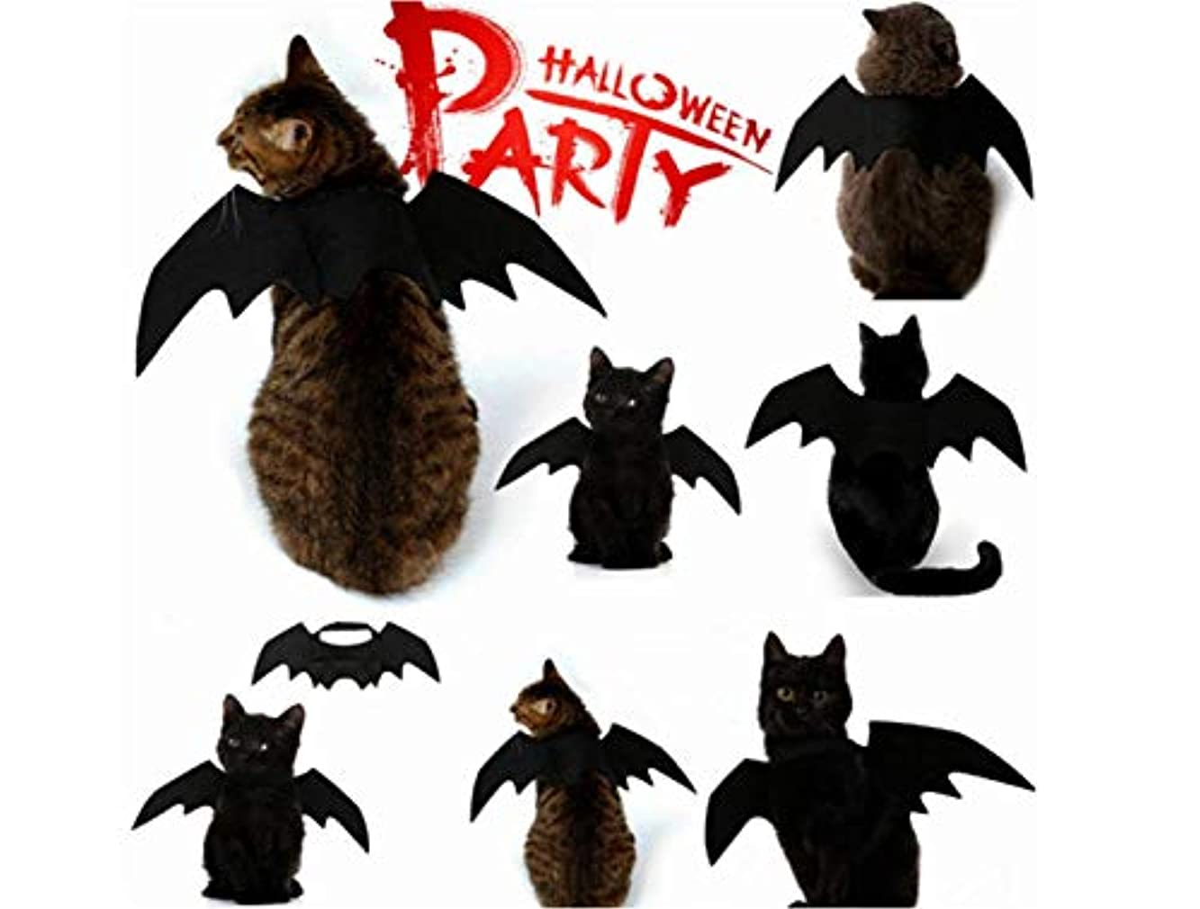 ハロウィンペットバット翼猫犬バットコスチュームハロウィンペットコスチューム小型犬と猫用アクセサリー