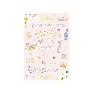 オリジナルポストカード ピアノ(ピンク)