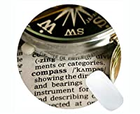 個人化されたコンパスの円形のマウスパッド世界地図の運行ステッチされた端が付いているコンパスの円形のマウスパッド