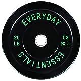 バランスフロム ウェイトプレート エブリデイエッセンシャルズ 色分けされたオリンピックバンパープレート Wスチールハブ ブラック BLK-BP