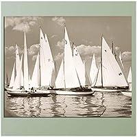 海景セーリングボートキャンバス絵画デジタルプリント油絵壁アートキャンバス画像ホームCuadros装飾ギフト—40x60cmフレームなし