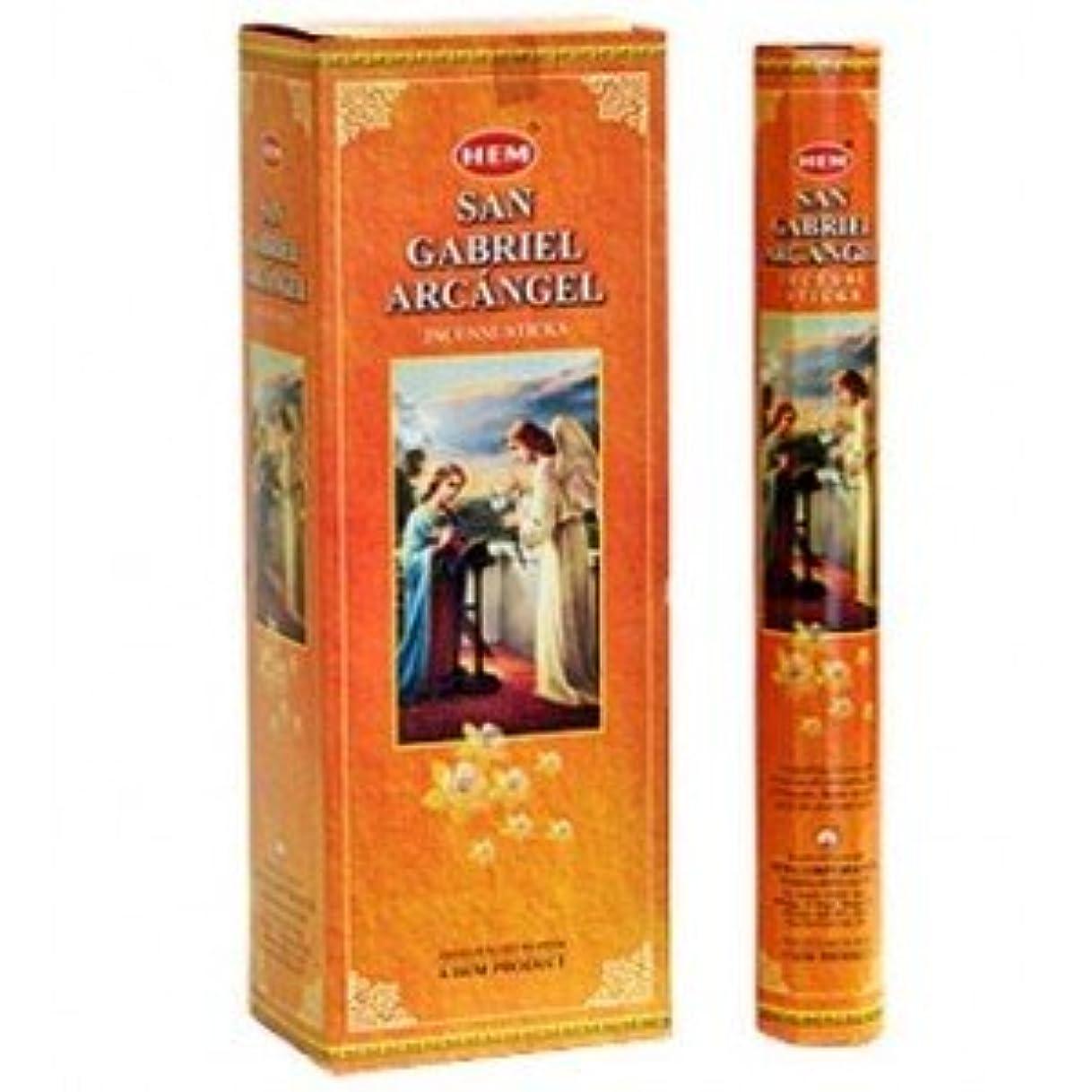辛な馬鹿げたつまずく裾San Gabriel Arcangel Incense 6 Hexagon 20のパック= 120 Sticks