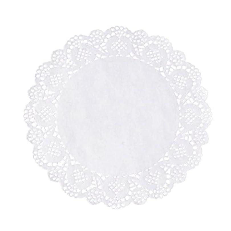RETYLY 100枚白いレースラウンド小さなマットケーキ包装パッド結婚式の食器装飾