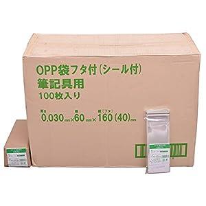 伊藤忠リーテイルリンク OPP袋フタ付(シール付) 筆記具用 100枚入x300パック