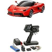 【セット商品】 タミヤ 1/10 電動RCカーシリーズ No.582 ラ フェラーリ (TT-02シャーシ) 58582 + ファインスペック 2.4G 電動RCドライブセット