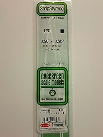 エバーグリーン プラボウ 平棒 0.5 厚 0.5 幅 70EG120