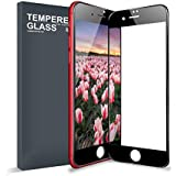 iPhone 7 Plus iPhone 8 Plus Screen Protector Tempered Glass, Meidom Scratch Resistant 3D Full Coverage iPhone 7 Plus/8 Plus Glass Screen Protector Film 3D Touch Compatible[Black]