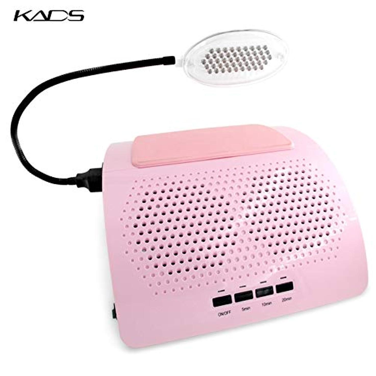 りフェンス教KADS 40W ネイルダスト集塵機 2つのファン LEDライト付き ネイルダストコレクター 低騒音/ワンボタン設定 電動ネイルダストクリーナー 電動ネイル集塵機 ネイルケア用 ネイルアート道具